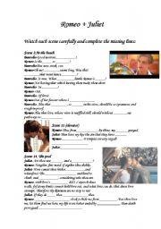 Romeo and Juliet movie scenes