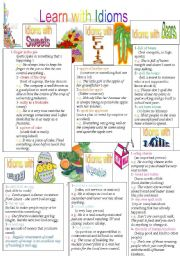 English Worksheets: Learn with Idioms ( Part 5)