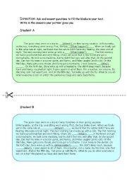 English Worksheets: information gap