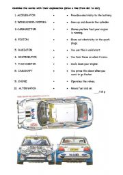 English Worksheet: Car Parts