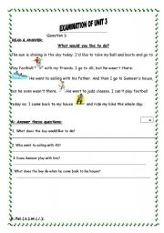 English Worksheet: English test related to sports