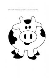 English Worksheets: Cow puppet