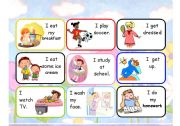 English Worksheets: Daily Routine - Miming cards set 2