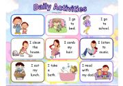 English Worksheets: Daily Routine - Miming cards set 1