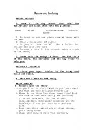English Worksheets: MANSOOR AND THE DONKEY
