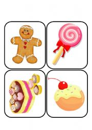 desserts flashcards 24 cards in 6 pages