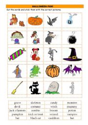 English Worksheets: Halloween fun
