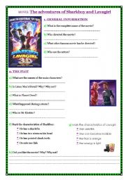 English Worksheets: Movie Worksheet - The adventures of Sharkboy and Lavagirl