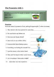English Worksheets: possessive nouns