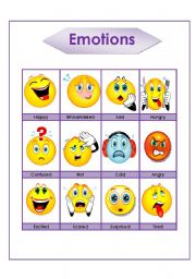 English Worksheet: Emotions and moods