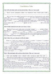 English Worksheets: Consolidation Tasks