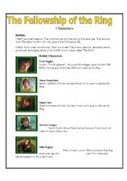 English Worksheets: Lord of the Rings: The Fellowship of the Ring