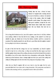 English Worksheets: The Surprising Cottage