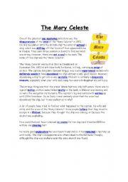 English Worksheets: The Mary Celeste