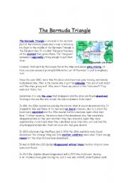 English Worksheet: The Bermuda Triangle