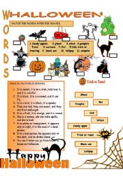 English Worksheets: HALLOWEEN ( 1/2 )