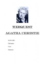 English Worksheet: AGATHA CHRISTIE WEBQUEST