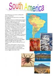English Worksheets: South America