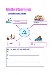 English Worksheet: brainstorming