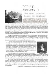 English Worksheet: The most haunted house in England