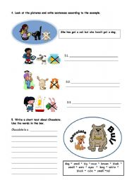 English Worksheets: PETS - PAGE 2