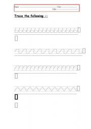 English worksheet: tracing (4)