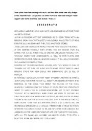 English Worksheets: DESIDERATA CHANGED BY PIXIES