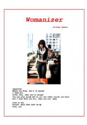 English Worksheet: Womanizer - Britney Spears� New Song