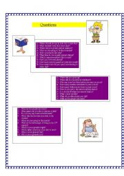 English Worksheets: 50 QUESTIONS