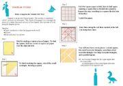 English Worksheets: making  tangram