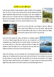 English Worksheets: A drive in the mountains