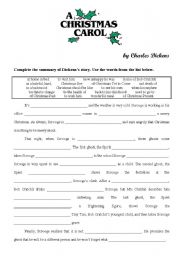 photo relating to A Christmas Carol Worksheets Printable titled A Xmas Carol - ESL worksheet by way of yppos59