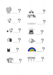 English Worksheets: WH- words