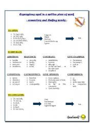 English Worksheet: Connectors and linking words