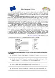 English Worksheet: Europe Test
