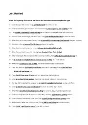 English Worksheets: Movie: Just Married
