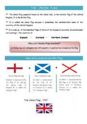 English Worksheet: UK flag