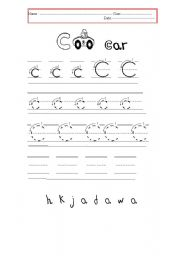 English Worksheets: letters C&D