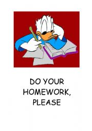 English Worksheets: DO YOUR HOMEWORK - POSTER