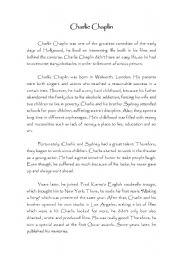 English Worksheets: charles chaplin