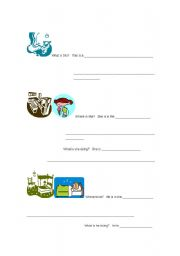 English Worksheets: Rooms and Actions