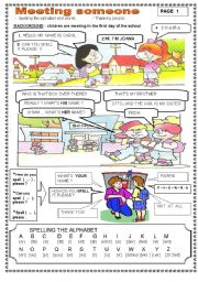 English Worksheets: MEETING SOMEONE ( SET: 1/3 PAGES ): 12/10/08