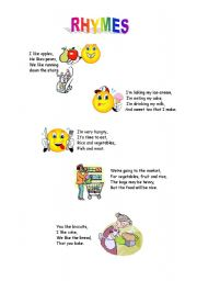 English Worksheet: rhymes
