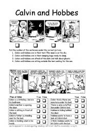English Worksheets: Calvin and Hobbes