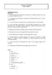 English Worksheets: Media - Matching exercise
