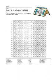english worksheets days months alphabet soup. Black Bedroom Furniture Sets. Home Design Ideas