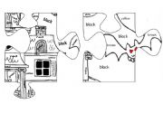 English Worksheet: BIG HALLOWEEN PUZZLE, PART TWO OF FIVE