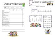 English Worksheets: students assessment report