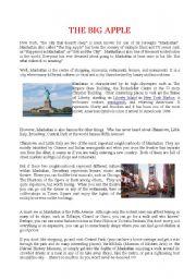 English Worksheets: THE BIG APPLE