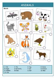 English worksheets: the animals worksheets, page 51